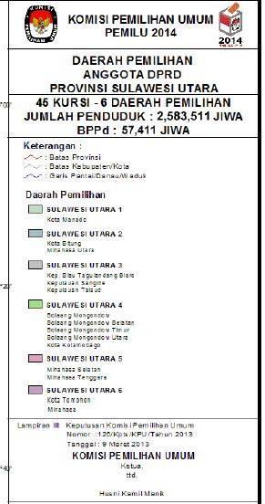 Dapil DPRD Sulut