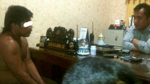Aco TSK pembunuh karyawan Hotel Nalendra Kota Bitung (foto ist)