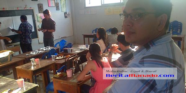Suasana saat pemilihan. Tampak Pnt Arlan Naray usai terpilih sebagai Ketua Pemuda GMIM Wilayah Manado Timur IV
