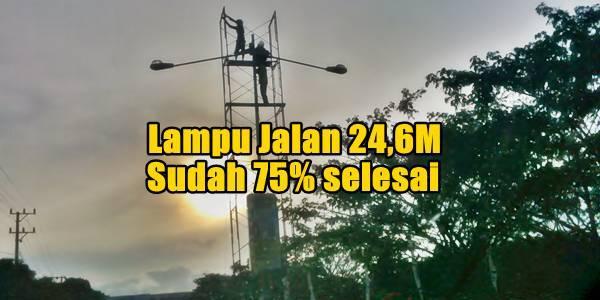 Proyek Lampu Jalan 24,6M