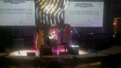Musik tradisional Makaruyen ikut ditampilkan dalam konser amal