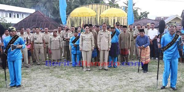 Penyambutan Walikota Kotamobagu Tatong Bara dan Wakil Walikota Kainudin Damopolii