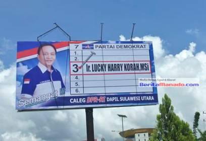 bilboard milik Lucky Harry Korah (Demokrat)