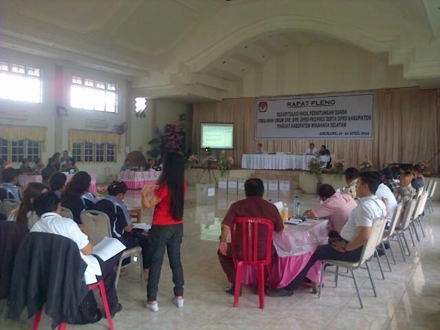 Pleno Rekapitulasi KPUD Minahasa Selatan