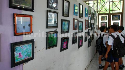 Hasil karya siswa klas 9 SMP Negeri 1 Kota Bitung (foto beritamando)