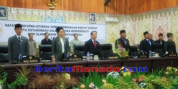 Rapat Paripurna Istimewa DPRD Kota Kotamobagu Dihadiri Gubernur Sulut SH Sarundajang