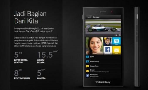Hari Ini! Blackberry Z3 Jakarta Tersedia di Parafone Plaza dan Plaza Selular Manado