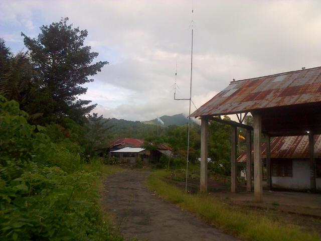 Desa Kotamenara, nampak Alat Peringatan Aktifitas Gunung Soputan