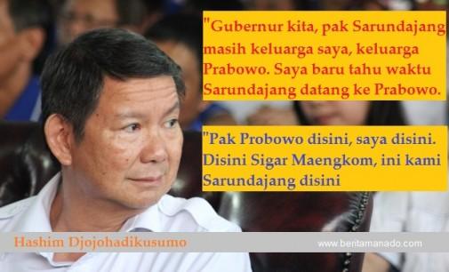 Wah…Gubernur Sarundajang dan Prabowo Subianto Bersaudara