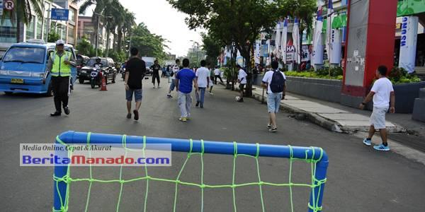 Kegiatan olah raga di Jalan Piere Tendean Boulevard, Sabtu (31/5/2014) pagi