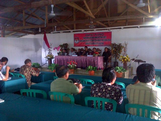Pleno KPUD Minsel Penetapan DPT Pilpres
