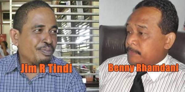 Jim R Tindi dan Benny Rhamdani