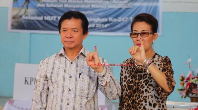 Bupati Singal Coblos Presiden di TPS 2 Matungkas 6