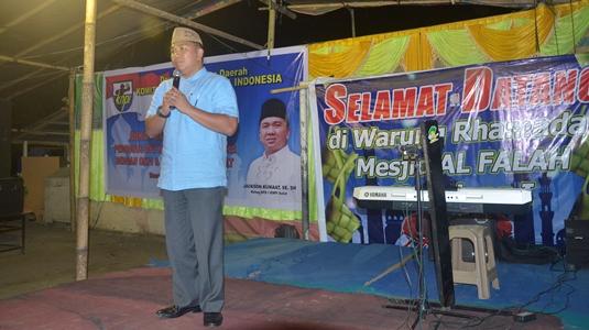 Ketua KNPI Sulut ketika menyampaikan sambutan (foto Beritamanado)