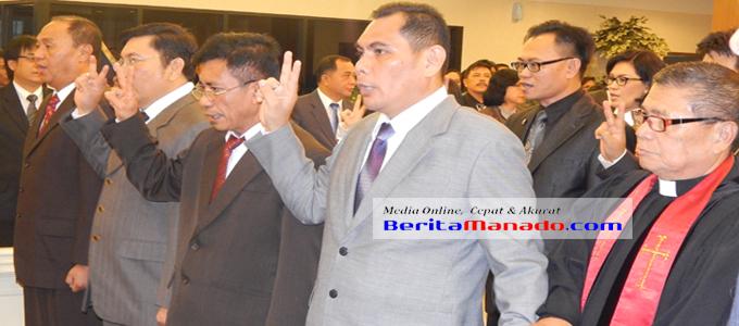 Para pejabat Eselon II Pemprov Sulut yang dilantik