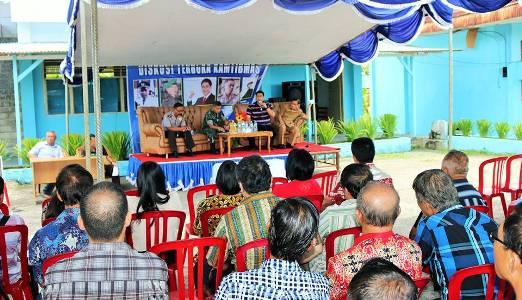 Suasana Diskusi Terbuka yang dihadiri Wakil Walikota Manado
