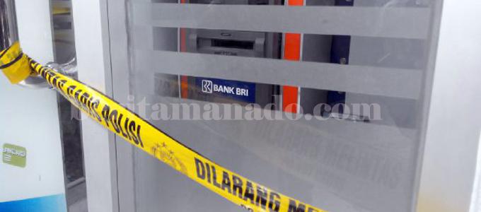 ATM BRI di Aertembaga yang coba dibobol maling (foto beritamanado)