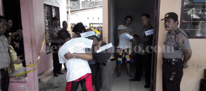 Rekonstruksi pembunuhan tiga ABK Philipina (foto beritamanado)