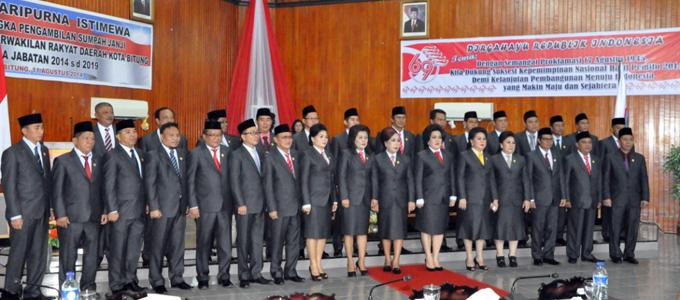30 anggota DPRD Kota Bitung periode 2014-2019 (foto ist)