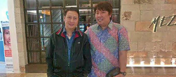 Frans bersama Ivan Sarundajang, Wakil Bupati Minahasa