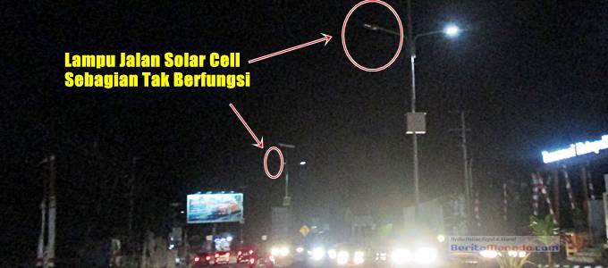 Lampu jalan solar cell di mapanget