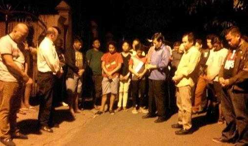 Walikota Manado saat do'a bersama anak muda untuk Perdamaian