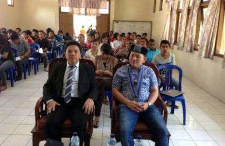 Erick G Kawatu, SE saat acara pembukaan Maper (foto Beritamanado)