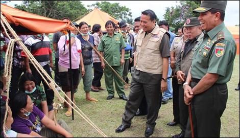Danrem Manado dan Walikota Tomohon saat simulasi.