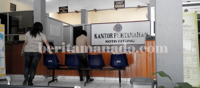 Kantot BPN Kota Bitung (foto beritamanado)