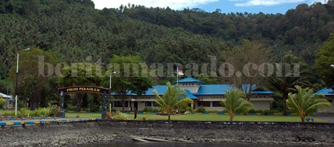 Polair Sulut di Aertembaga Kota Bitung (foto beritamanado)