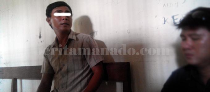 Fian tersangka penikaman di Tendeki (foto beritamanado)