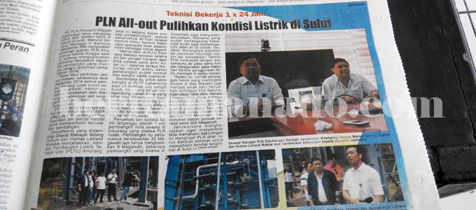 Pencitraan PLN Sulutteggo di media (foto beritamanado)