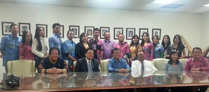 tim kesenian kota Manadosaat berkunjung ke KJRI LA 26 Agustus 2014