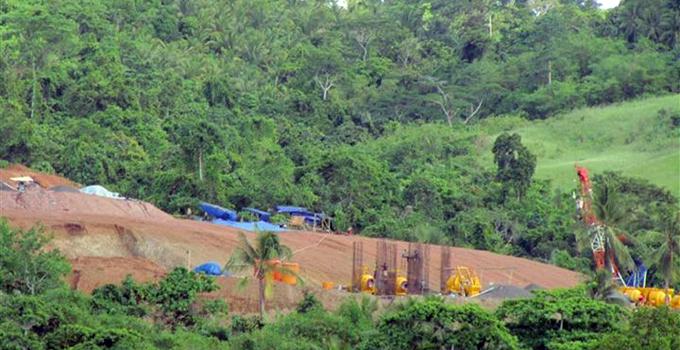 Aktifitas PT MMP di Pulau Bangka beberapa waktu lalu.
