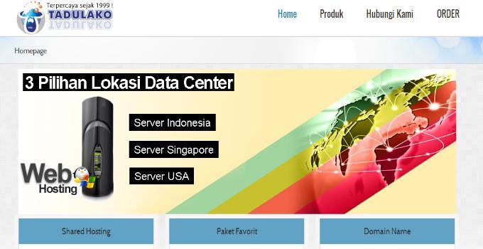 web hosting dan domain name tadulako