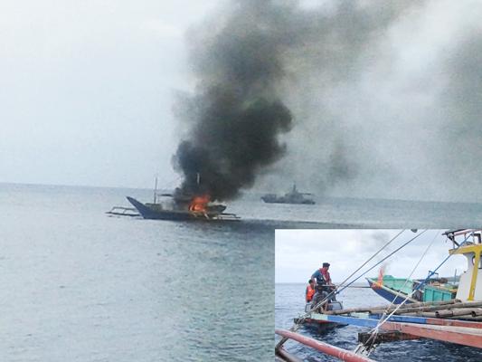 Pumpboat ilegal yang dimusnahkan akhir pekan lalu.