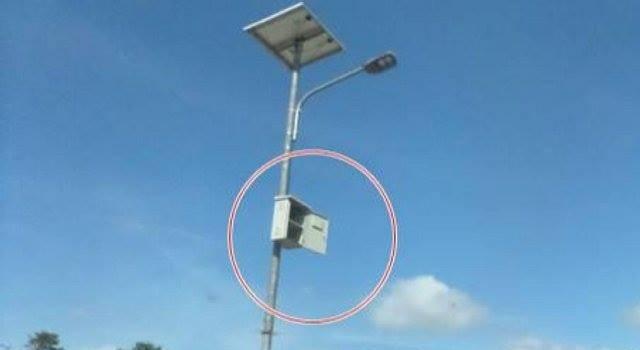 Ilustrasi lampu solar cell