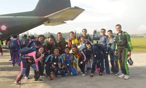 Tim Terjun Payung Sulut Pantang Menyerah Ikut Pra PON