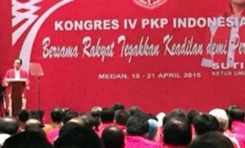 Kongres PKPI, Presiden dan Ketua-ketua Parpol Hadir