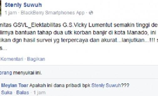 Benarkah Vicky Lumentut Jadikan APBD Modal Naikkan Elektabilitas?