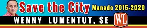 Banner Wenny Lumentut for Manado