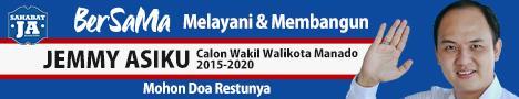 Banner Jemmy Asiku Calon Wakil Walikota Manado