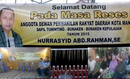 Legislator Nur Rasyid Gelar Reses di Sindulang Satu