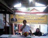 Gelar Reses di Kombos Timur, Sonny Lela Didaulat Sebagai Tokoh Pejuang Aspirasi Kecamatan Singkil