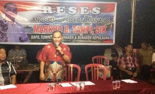 Legislator Markho Tampi Gelar Reses di Kampung Islam