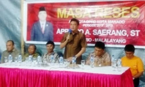 Legislator Apriano Ade Saerang Gelar Reses di Manibang