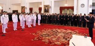 Ini 7 Gubernur yang Dilantik Presiden Jokowi