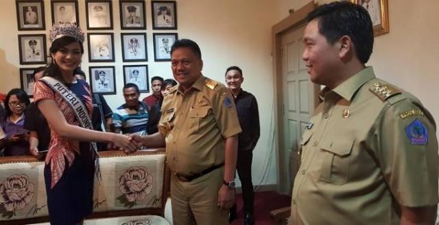 Putri Indonesia diterima Gubernur Olly Dondokambey dan Wagub Steven Kandouw