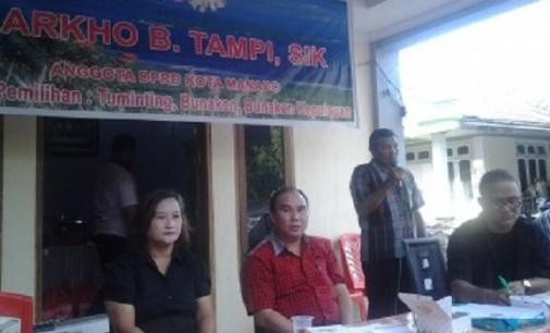 Markho Tampi Reses di Kelurahan Molas