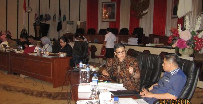 Rapat LKPJ 2015 Billy Lombok Affan Mokodongan